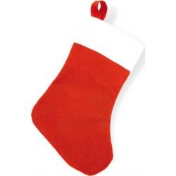 Meia de Natal vermelha com fita adesiva