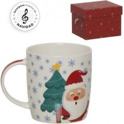 Conjunto de canecas de Natal engraçadas com caixa musical