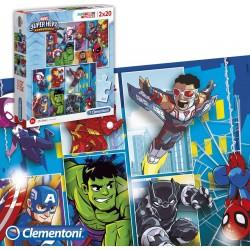 Conjunto de quebra-cabeças de 20 peças da Marvel Super...