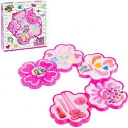 Conjunto de maquiagem de flores cor de rosa 4 níveis para...