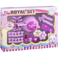 Conjunto de manicure e acessórios de beleza divertida