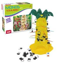 Macacos do jogo de habilidade divertida em equilíbrio