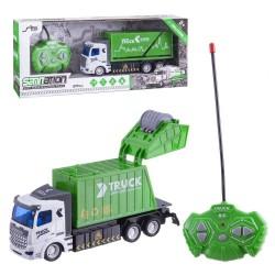 Brinquedo de controle remoto de caminhão de reciclagem
