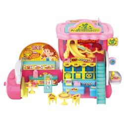 Caixa registradora de restaurante de brinquedos conversíveis
