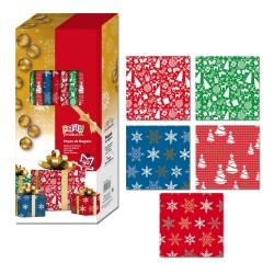 Papel de embrulho de Natal em vários modelos