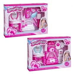 Conjunto de beleza para meninas em dois modelos variados