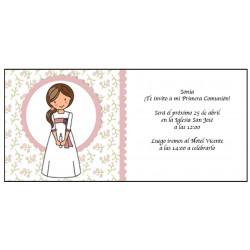 Convite para menina da primeira comunhão