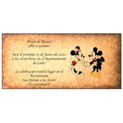Disney Retro Convites