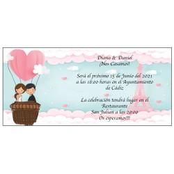 Convite de casamento da Torre Eiffel