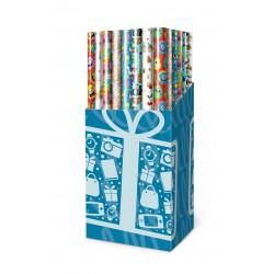 Diversos rolos de papel de embrulho para crianças baratos