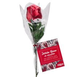 Rosa de chocolate para dar de presente