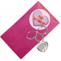 Chaveiro com coração personalizado para o Dia dos Namorados