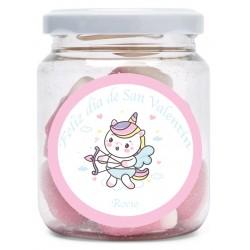 Frasco de doces personalizado para o dia dos namorados