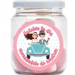 Frascos de doces para casamentos