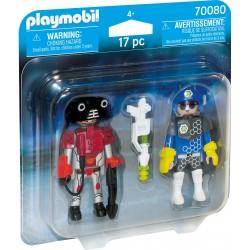 Pacote de Ladrão e Polícia Espacial Playmobil