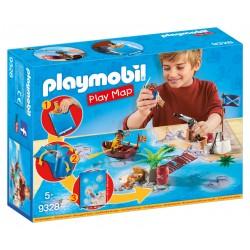 Playmobil Play Map Pirates com acessórios