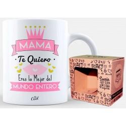 Caneca com frase para mamãe em branco apresentado na caixa
