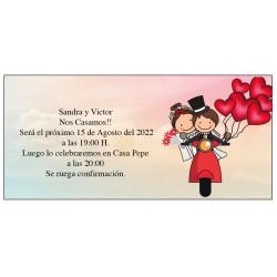 Convite de casamento vespa