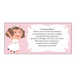 Convite Personalizado Comunhão Menina Raquel