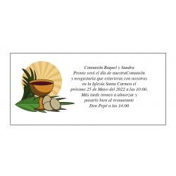 Design do cálice do cartão de comunhão