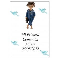 Adhesive Boy Communion Adrian 7 x 5 Ideal para garrafas