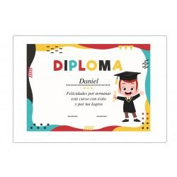 Diploma de graduação infantil personalizado