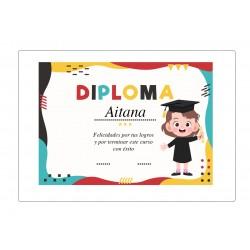 Diploma personalizado de graduação feminina