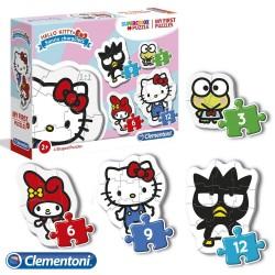 Quebra-cabeça infantil 2 anos Hello Kitty
