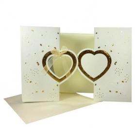 Cartões baratos do convite do casamento dourado