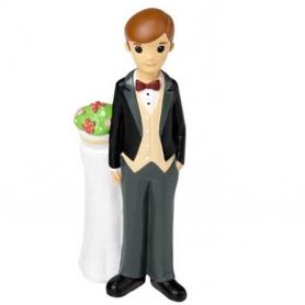 Figura do bolo de casamento do noivo