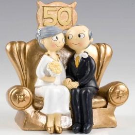Figuras para bolos de casamento de ouro