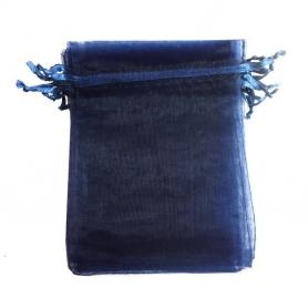 Saco de organza azul marinho 7x10