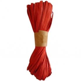 Fita de ráfia para presentes vermelhos