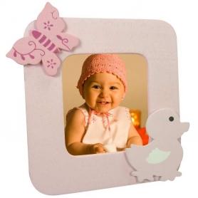 Suporte de foto de bebê de madeira