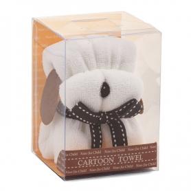 Presente do filhote de cachorro de toalha