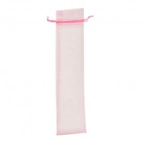 Saco de organza para os fãs de rosa claro