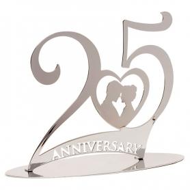 Figura do bolo do 25º aniversário