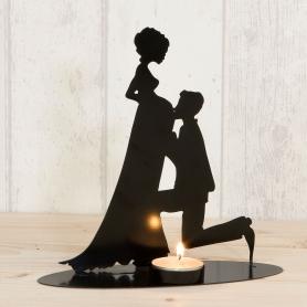 Figura grávida da noiva