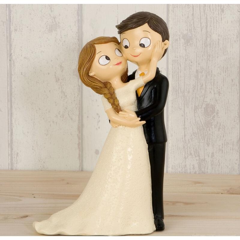 Noiva e noivo bolo de casamento