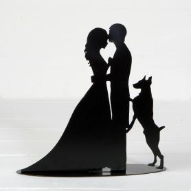 Números noiva e noivo para bolo de casamento