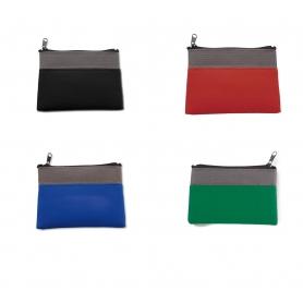 Bolsa de chaveiro de mulheres bicolor