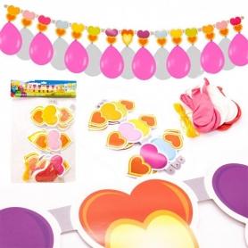 Garland balões e corações