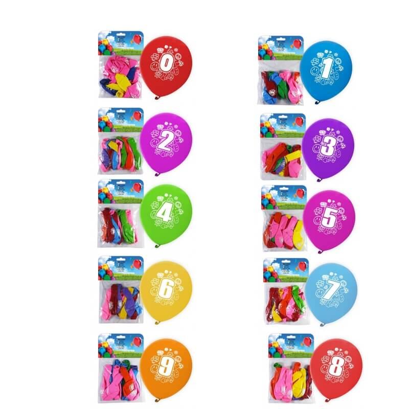 Pacote de Balões Numéricos