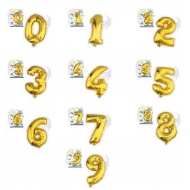 Balões de números metálicos