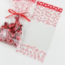 Sacos de doces com corações