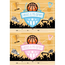 Convite de aniversário de basquete