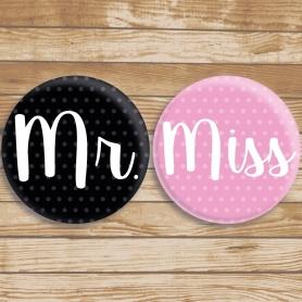 Miss e Sr Badges originais
