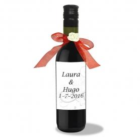 Garrafas de vinho personalizadas para casamentos