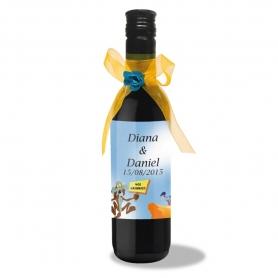 Garrafa de Vinho com Etiqueta Personalizada