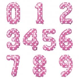 Balões de número-de-rosa